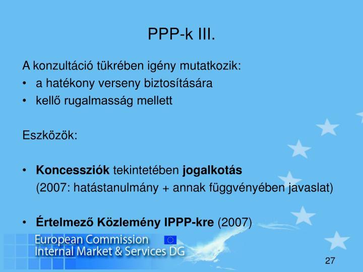PPP-k III.