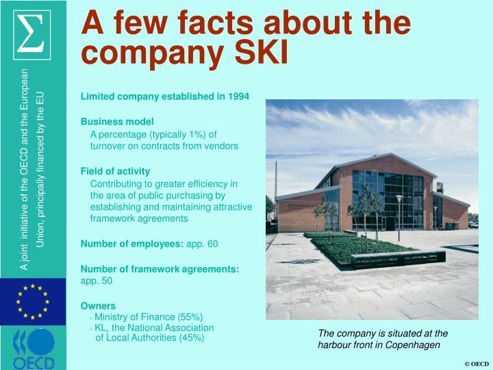 A few facts about the company ski