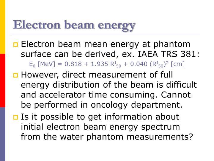 Electron beam energy