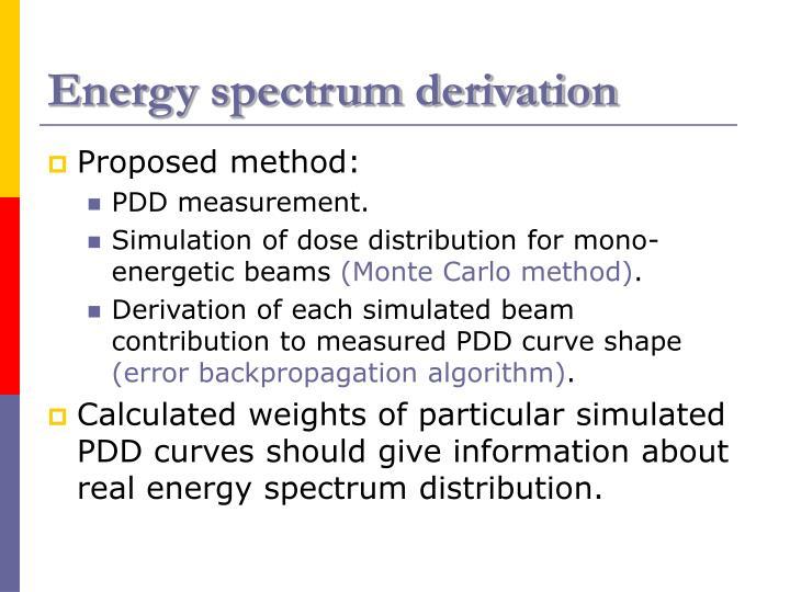 Energy spectrum derivation