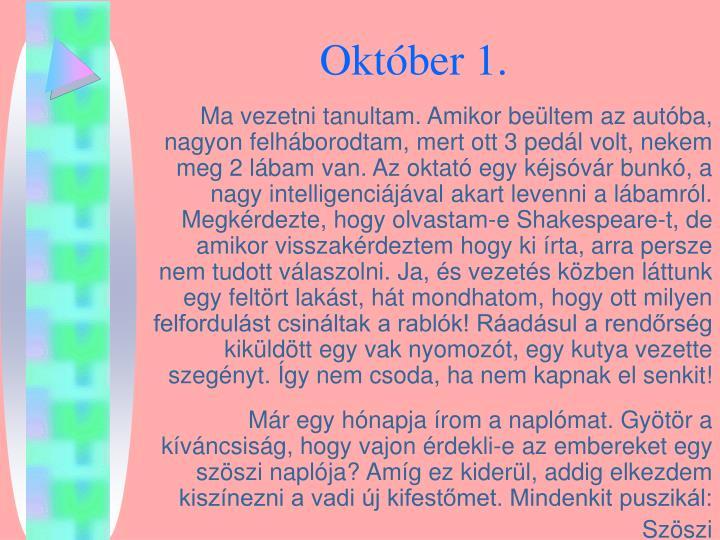 Október 1.