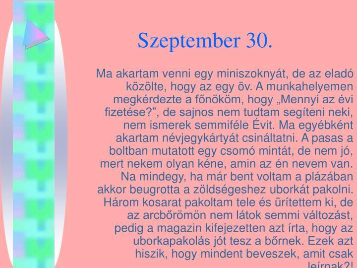 Szeptember 30.