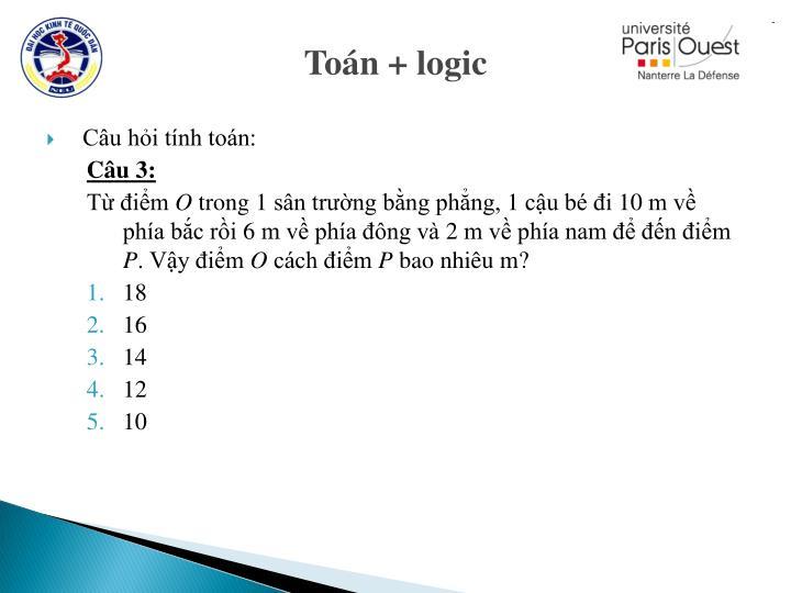 Toán + logic