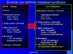 evolutie van definitie metabool syndroom