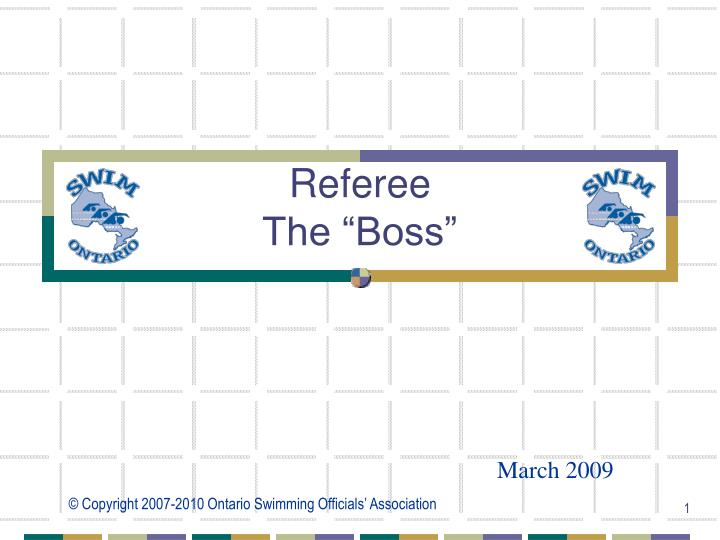 referee the boss n.