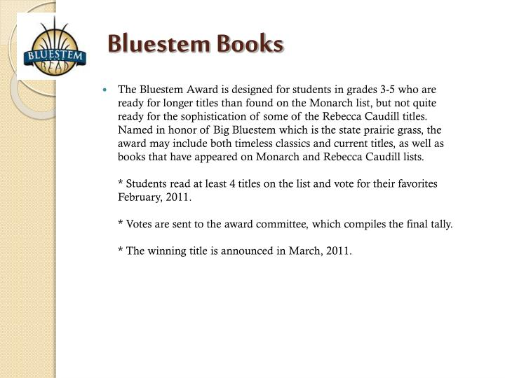 Bluestem Books