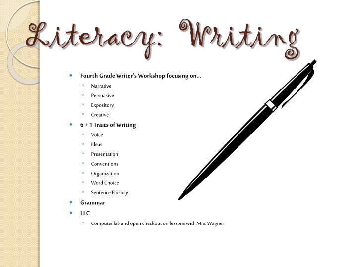 Literacy:  Writing