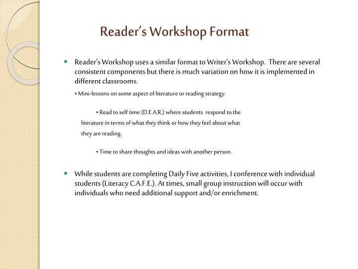 Reader's Workshop Format