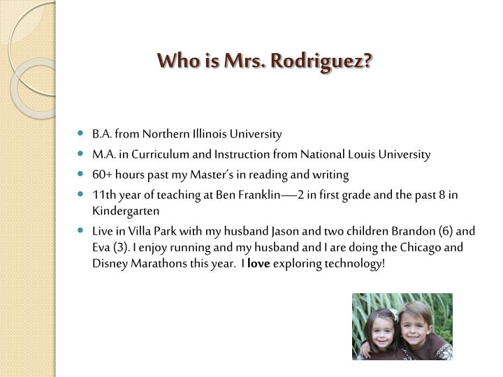 Who is mrs rodriguez