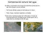 contaminaci n natural del agua