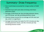 summary draw frequency