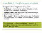 ingredient 4 complementary measures
