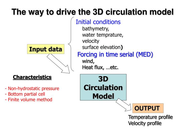 The way to drive the 3D circulation model