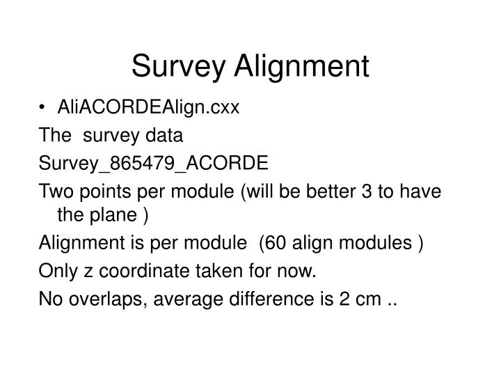 Survey Alignment
