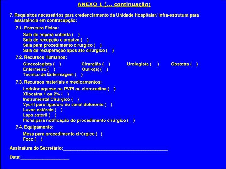 ANEXO 1 (... continuação