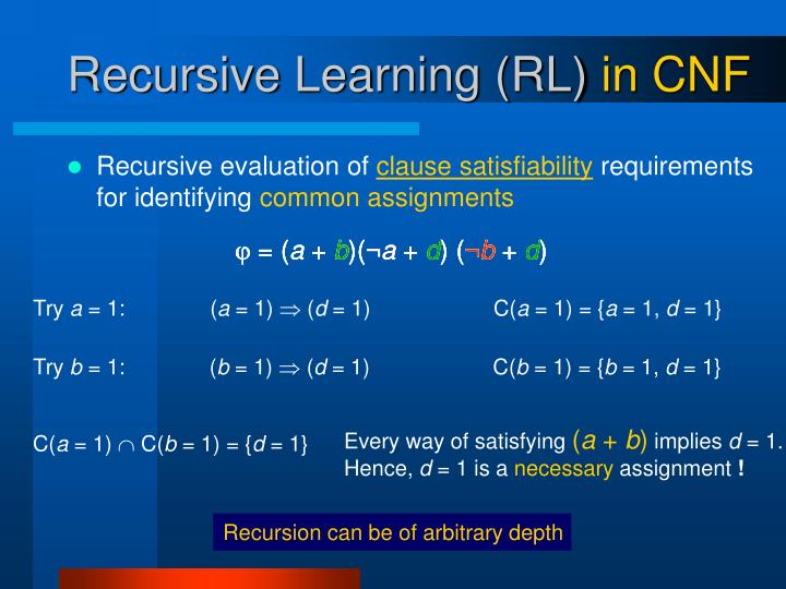 Recursion can be of arbitrary depth
