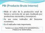 pbi producto bruto interno