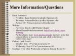more information questions