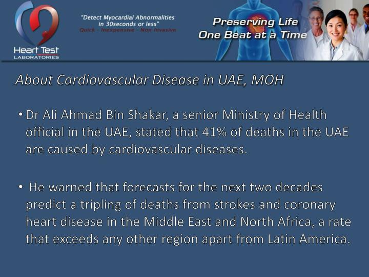 About Cardiovascular Disease in UAE, MOH