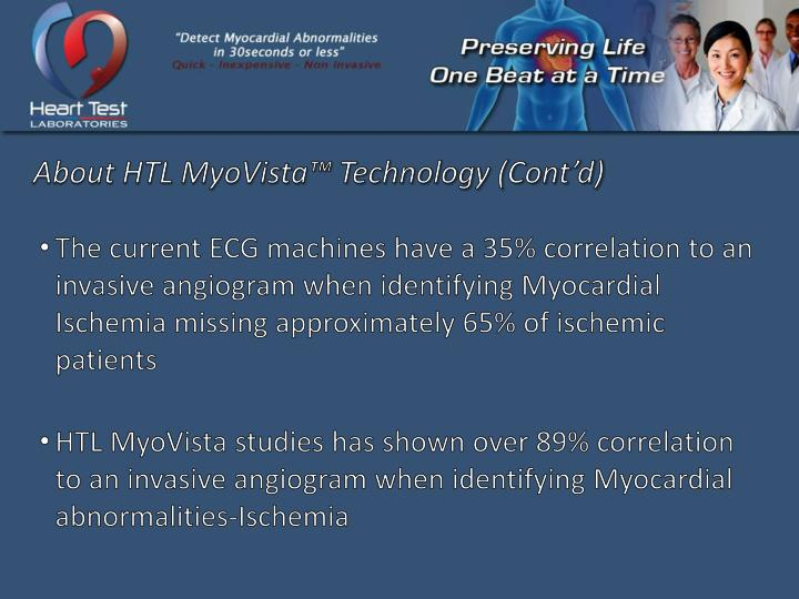 About HTL MyoVista™ Technology (Cont'd)
