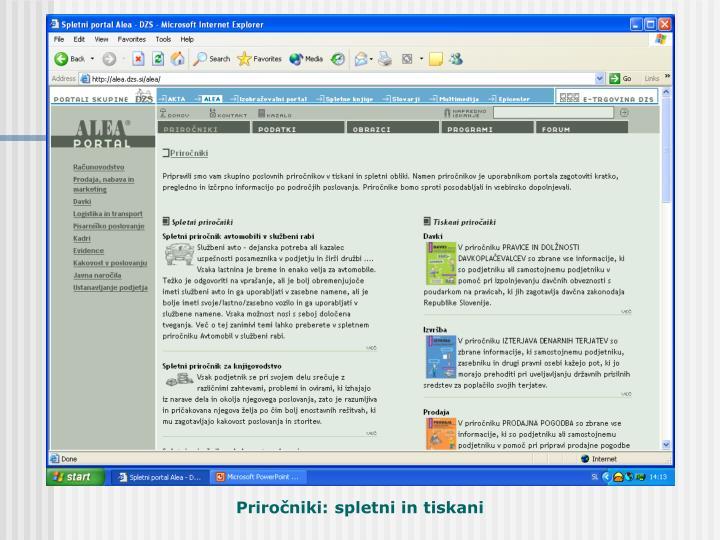 Priročniki: spletni in tiskani