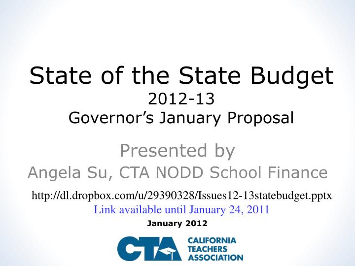 state of the state budget 2012 13 governor s january proposal n.