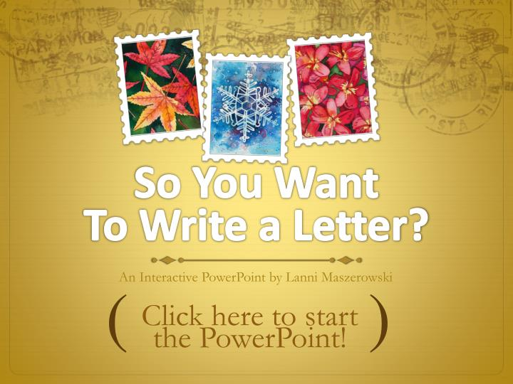 so you want to write a letter n.