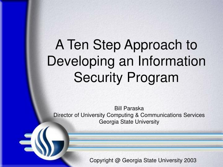 developing the security program