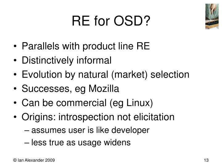 RE for OSD?