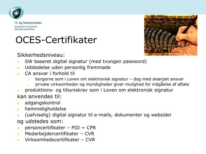 Oces certifikater