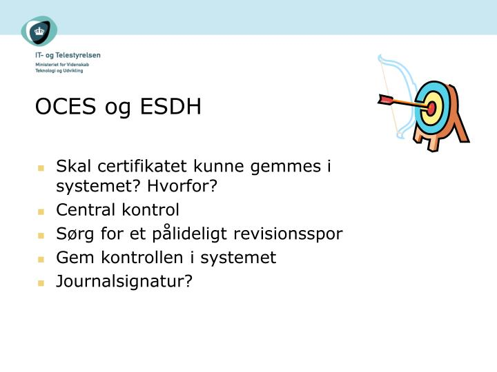 OCES og ESDH