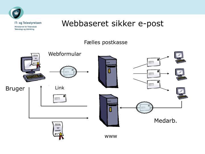 Webbaseret sikker e-post