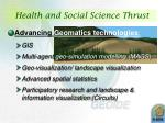 health and social science thrust3