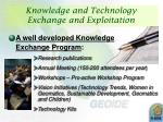 knowledge and technology exchange and exploitation