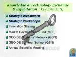 knowledge technology exchange exploitation key elements