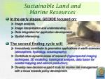 sustainable land and