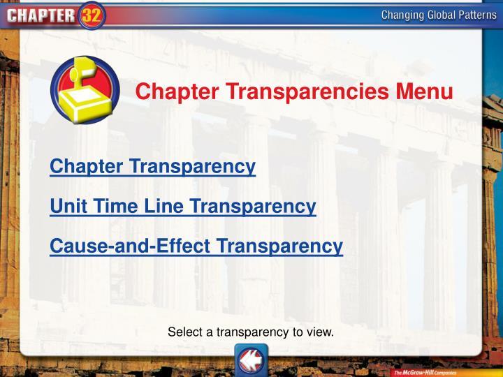 Chapter Transparencies Menu