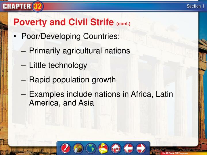 Poverty and Civil Strife