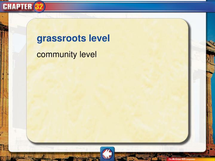 grassroots level