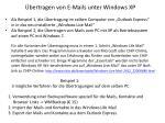 bertragen von e mails unter windows xp