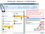 startknopf optionen e mail konten
