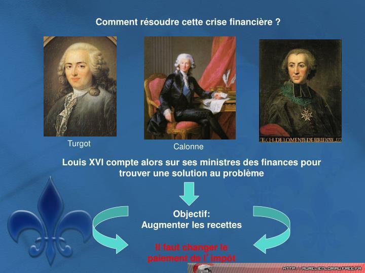 Comment résoudre cette crise financière ?