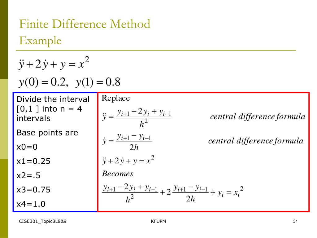 PPT - SE301: Numerical Methods Topic 8 Ordinary Differential