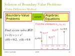 solution of boundary value problems finite difference method