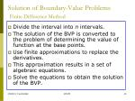 solution of boundary value problems finite difference method1