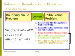 solution of boundary value problems shooting method