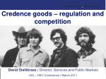 credence goods regulation and competition