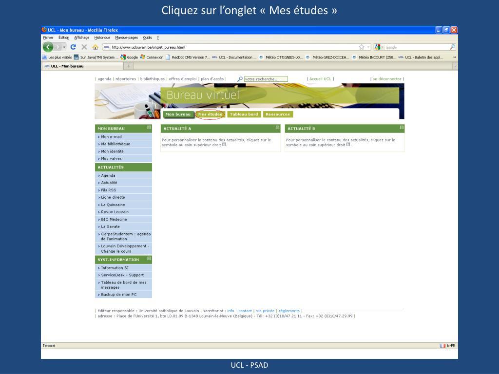 Ppt S Inscrire Aux Cours Via Son Bureau Virtuel Powerpoint Presentation Id 5039448