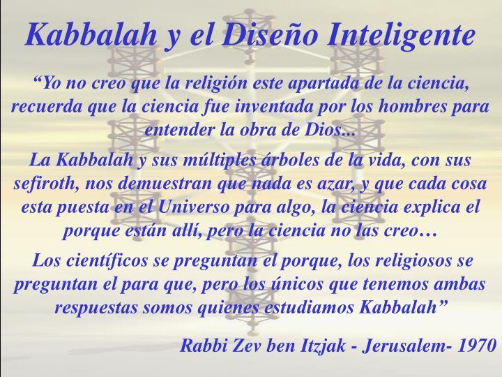 Kabbalah y el Diseño Inteligente