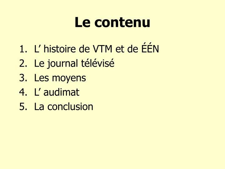 Le contenu